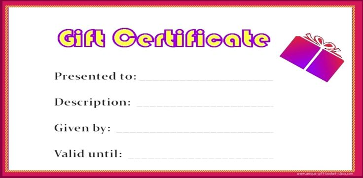 Blank Gift Certificate Designs Free | wrap it up (a nice envelope will do) and bestow it upon your loved one ...