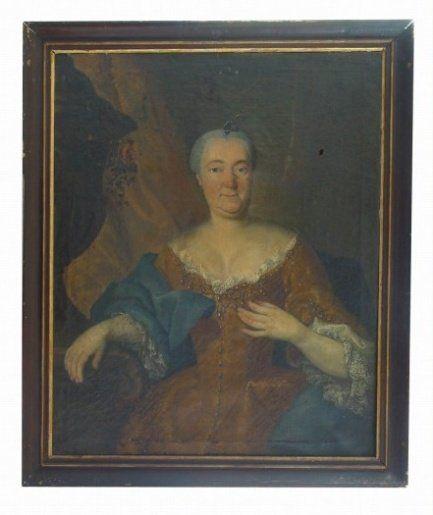Podobizna Anny Marie Forgačové, olej na plátně 101x82 cm, polovina 18.století., zámek Lešná