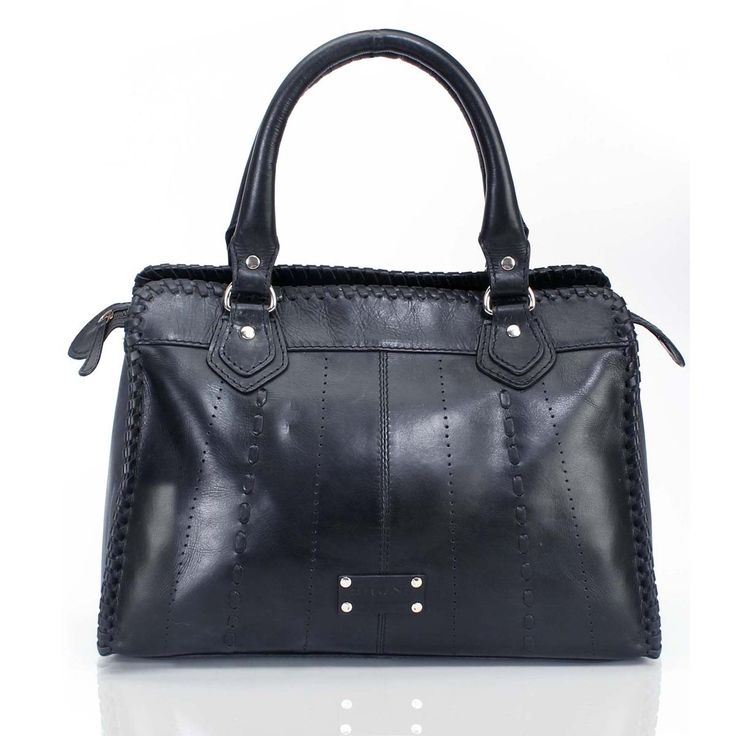 Buy online #BRUNE LADIES BLACK LEATHER #SATCHEL #BAG at voganow.com for Rs.4,760/- only