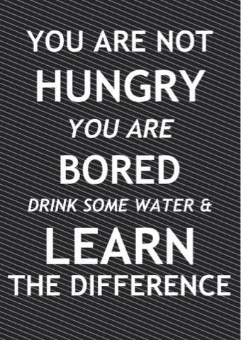 Drink some water AND exercise.