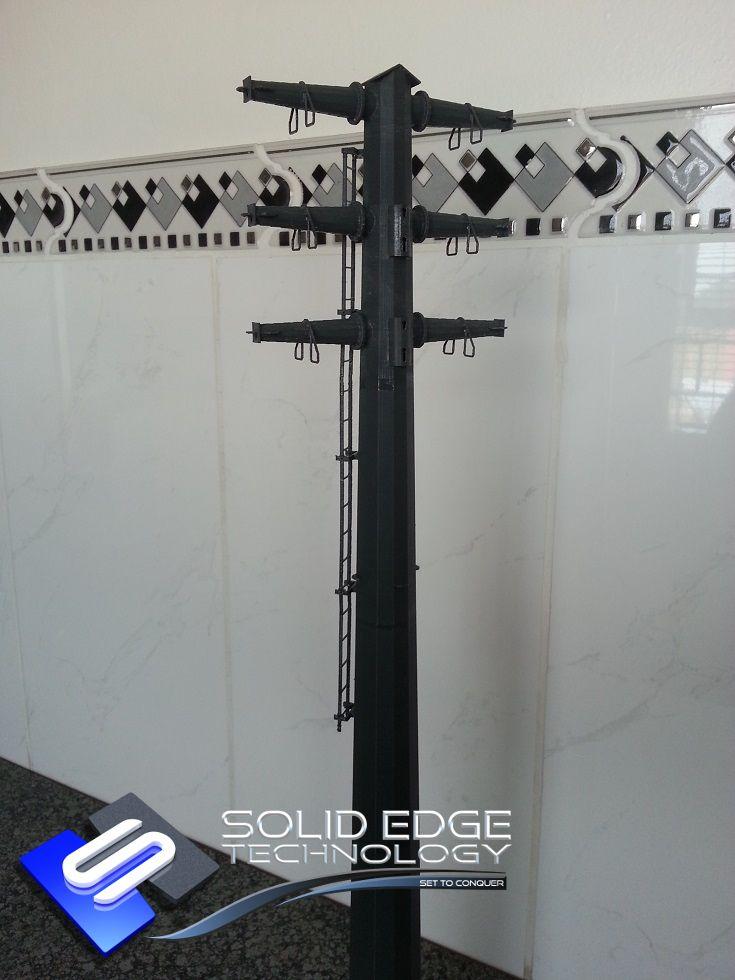 STRDC6013HA105 Mast. 3D Printed in Grey ABSplus Plastic.