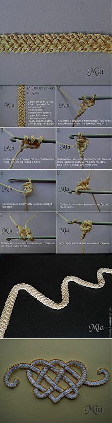 Мастер-класс по вязанию шнура - Ярмарка Мастеров - ручная работа, handmade