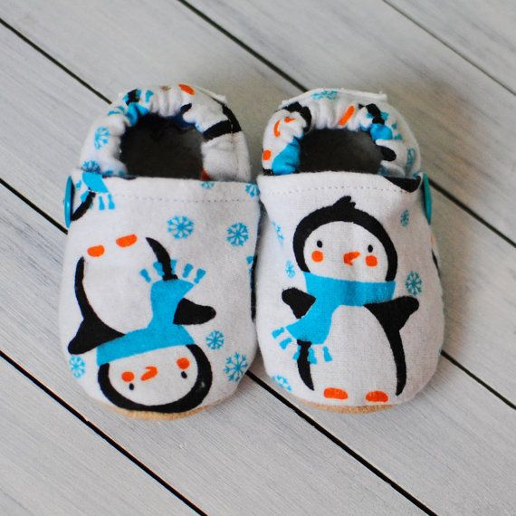 FREE SHIP Penguin Baby Shoes by QuinnleesBoutique on Etsy, $14.00