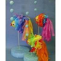 this fun fish decor is great for a party. Crafting with styrofoam