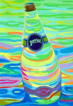 ペリエを用いて色彩構成をしました。「モチーフ色彩構成」の取り組み方は様々あると思いますが、ストレイトに画面中央に一本をドンと描いています...