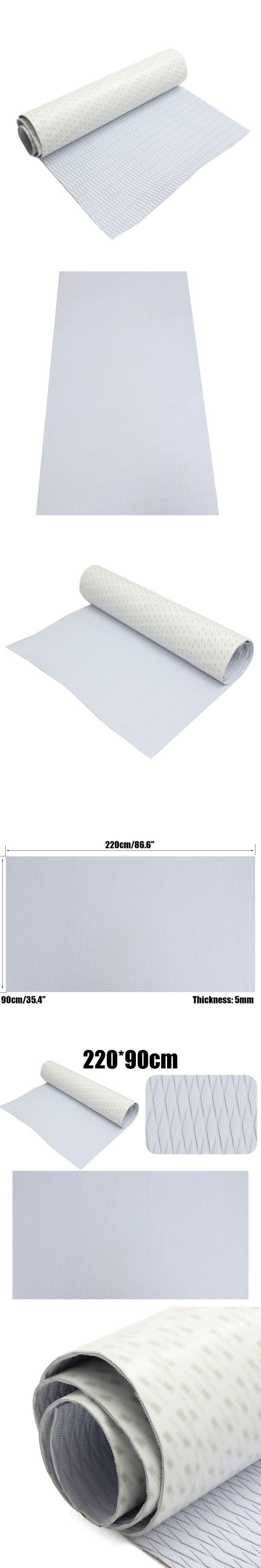 New 5mm 220cm x 90cm Self-Adhesive EVA Foam RV Boat Decking Sheet Marine Flooring Faux Teak Grey