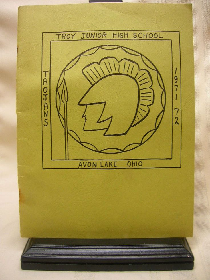 Vintage 1971-72 Troy Junior High School Yearbook Avon Lake, Ohio 6-9th Grade