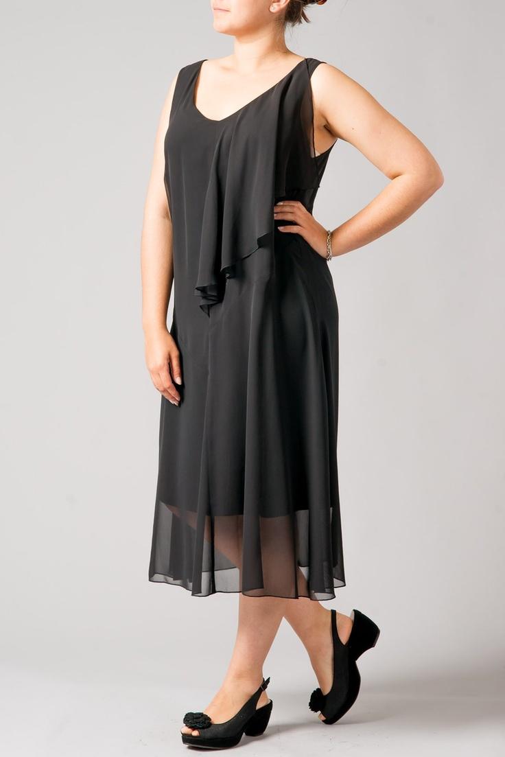 DRESSES - ASSYMETRIC FRILL CHIFFON DRESS - K Fashions