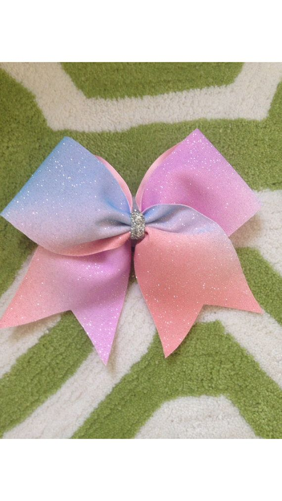 Sparkle ombré cheer bow by TheBowNanza on Etsy