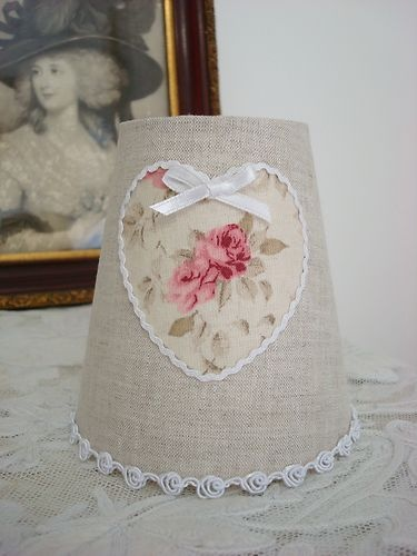 BEAUTIFUL FRENCH HEART LAMPSHADE 10 x 10cm (4 x 4 ins) HANDMADE FOR WALL LIGHT   eBay
