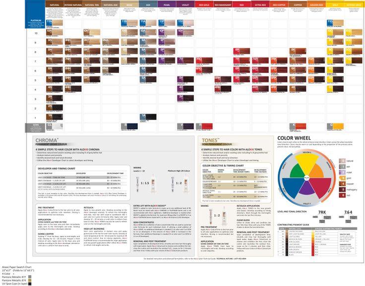 Aloxxi Color Swatches. Color Charts Pinterest Color