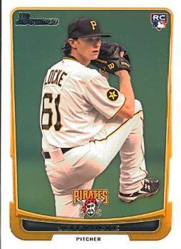 2012 Bowman #204 Jeff Locke Front