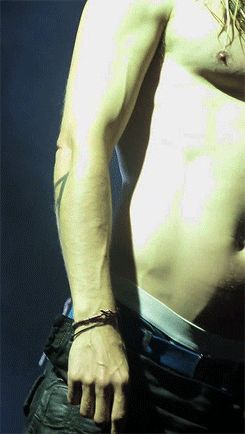 Jared Leto shirtless onstage GIF. HOLY GUACAMOLE.