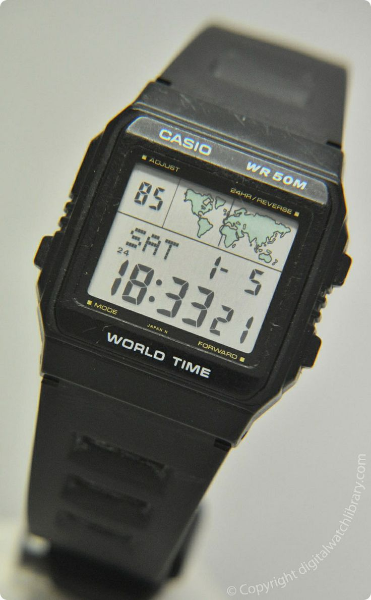 casio w 50u worldtime vintage digital