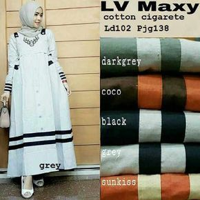 Baju Muslim Modern LV Maxi Terbaru - http://bajumuslimbaru.com/baju-muslim-modern-lv-maxi #BajuMuslimKatun