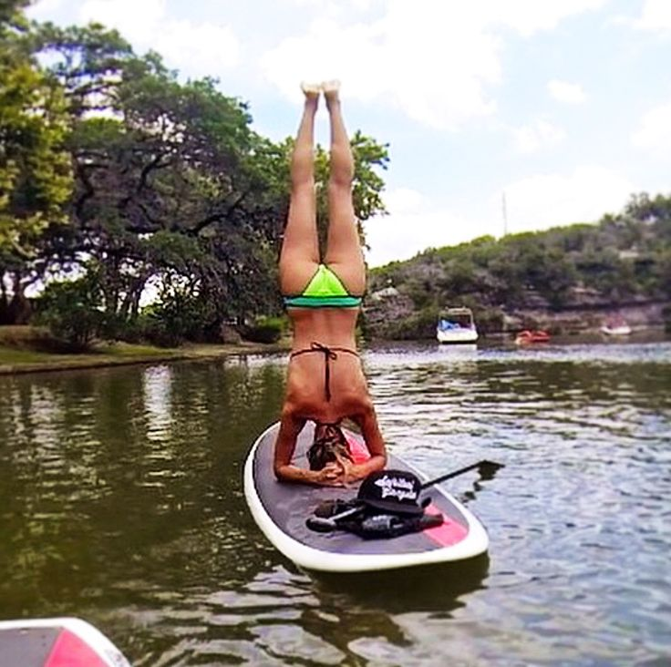 Stand up, or upside down.  Whatever floats your boat;) www.SUPATX.com  #supatx #paddleboard #sup