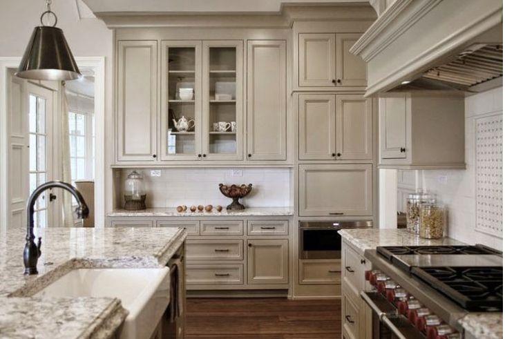 Beige kitchen cabinets in 2020 | Taupe kitchen cabinets ...