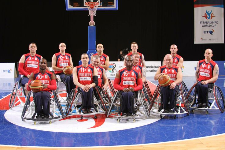 Team Photo - Wheelchair basketball player for Great Britain.