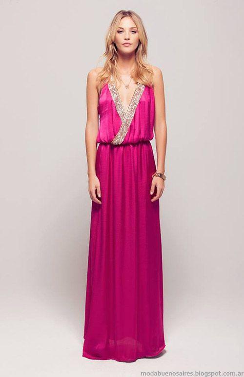 Vestidos de fiesta 2015 moda Silvina Ledesma.