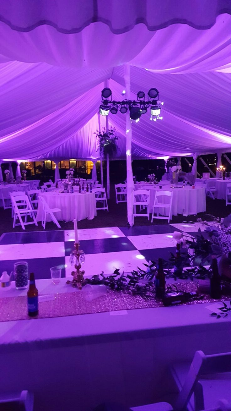 SLICK DJ ENTERTAINMENT LIGHTING FOR A FORMAL