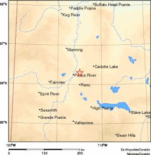 Fracking linked to Alberta earthquakes, study indicates ... The most recent earthquake in the province was recorded in Peace River on Nov. 2