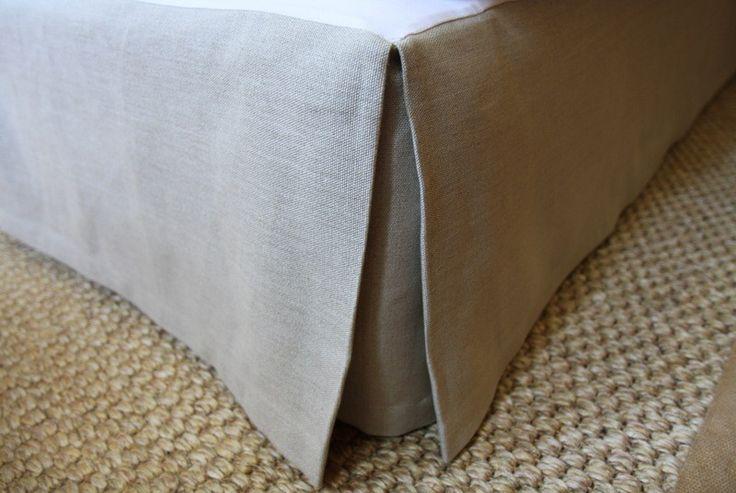 Linen Valance - Natural, Charcoal & Pink $190 KS