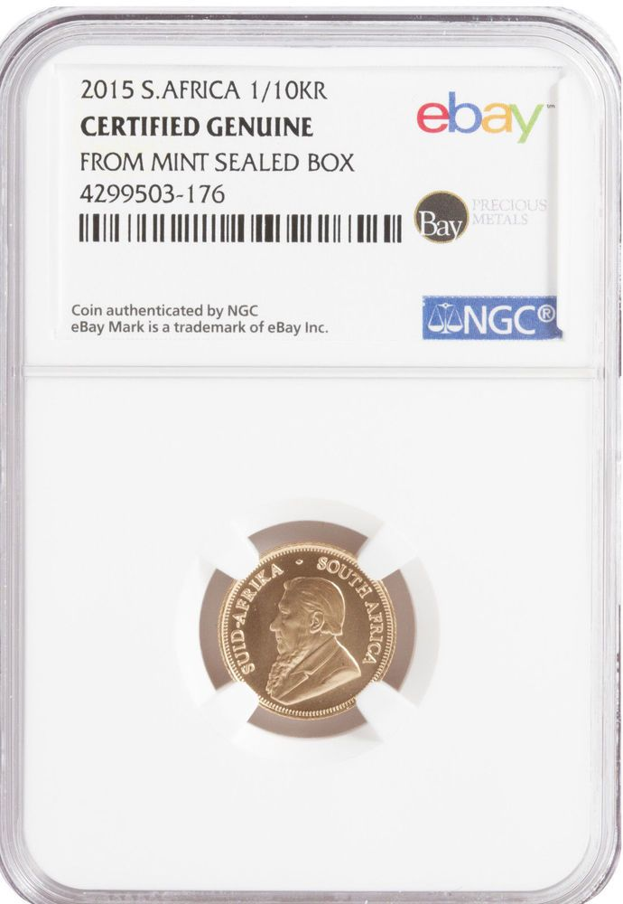 READ CAREFULLY-2015 1/10oz Gold Krugerrand  -- NGC Certified from Rand Refinery  #RandRefinery