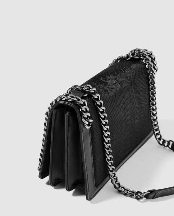 Image 5 of CROSSBODY BAG WITH EMBOSSED CHAIN from Zara ... 12a0a04626