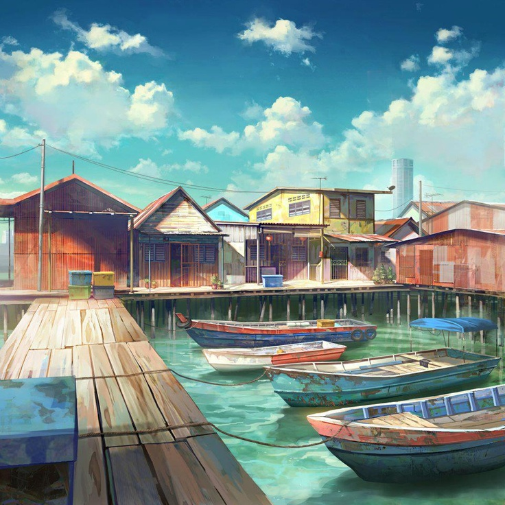 Village Zeppeli 334318afdc883374496b5100cdfbad45--animation-background-art-of-animation