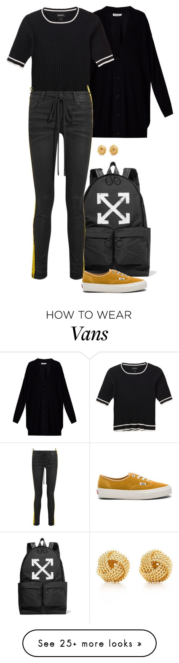 """Realyn."" by foreverforbiddenromancefashion on Polyvore featuring Jil Sander, Off-White, Monki, Vans and Tiffany & Co."