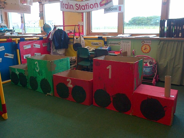 Role play train station for nursery! Have fun kidos! :)