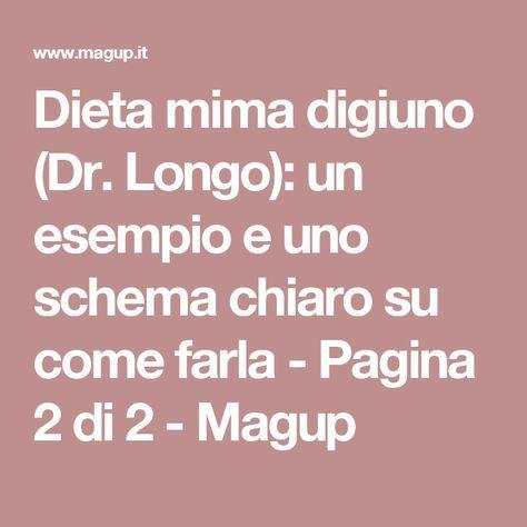 Dieta mima digiuno (Dr. Longo): un esempio e uno schema chiaro su come farla - Pagina 2 di 2 - Magup