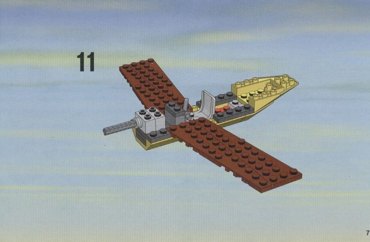 how to make a lego plane instructions