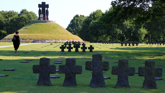 Tumulus at the German Military Cemetery at La Cambe