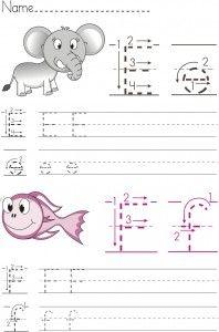 Writing worksheet for kindergarten (E-F)