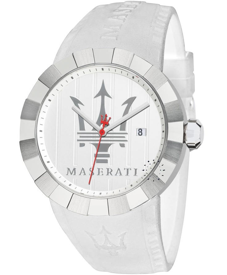 MASERATI Tridente White Rubber Strap Μοντέλο: R8851103003 Τιμή: 199€ http://www.oroloi.gr/product_info.php?products_id=30644
