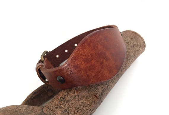 Bracelet homme original et rustique cuir effet vintage