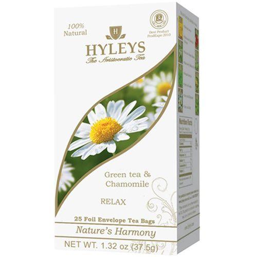 Nature's Harmony – Green Tea and Chamomile – Bags