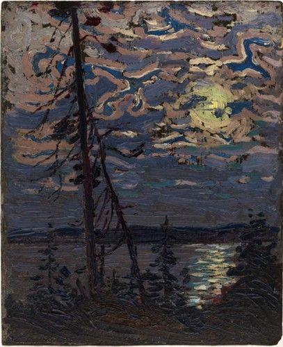 Tom Thomson - Moonlight  Autumn 1915 (10.5 x 8.5 Oil on panel)