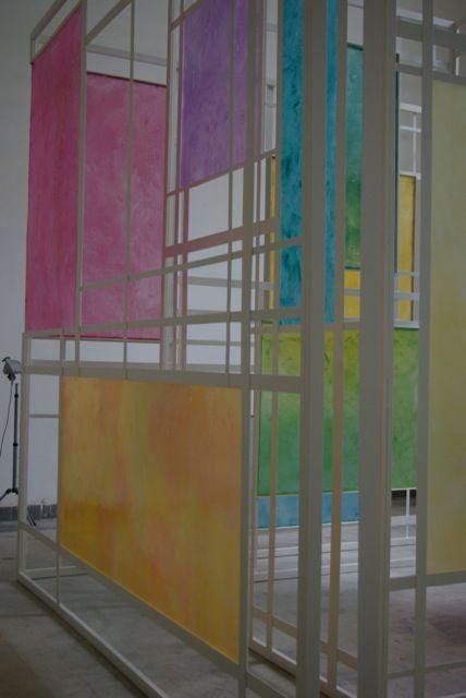 Alma Abonyi Pictures at an Exhibition (detail), 2011 4 x 4 x 4.5 m, iron, resin, fiberglass