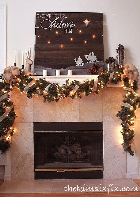 Create this beautiful Christmas sign using reclaimed lumber and Christmas lights. (You could even create a sign to display on your mantel all year long!)
