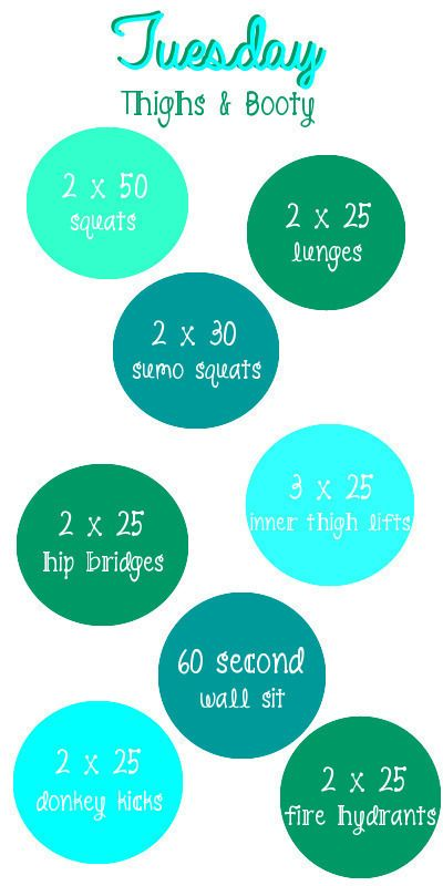 At Home Weekly Workouts - Tuesday: Thighs & Booty. @Ronita Glanville Glanville Coleman