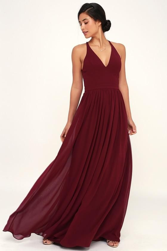 3e1c43a9632  fashion  trends  styles  AdoreWe  Lulus -  Lulus Love Spell Burgundy  Lace-Back Maxi Dress - Lulus - AdoreWe.com