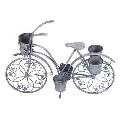 Woodland Imports Novelty Bicycle Metal Tricycle Planter