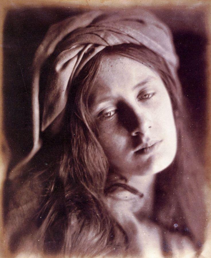 Julia Margaret Cameron study of Beatrice Cenci. Model is May Prinsep.