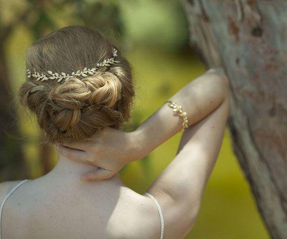 Bruids haaraccessoires bruiden Headpieces zachte door Ayajewellery