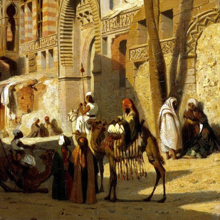 Egypt , Old Cairo Paintings: Prosper Georges Antoine Marilhat (French, 1811-1847) - Elizbeka Street, Cairo