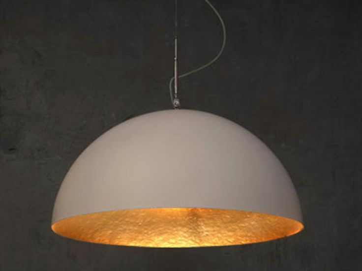 Resin pendant lamp MEZZA LUNA Luna Collection by In-es.artdesign