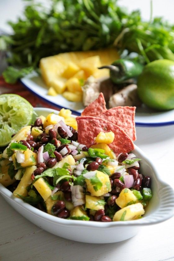 Pineapple Black Bean Salsa - So good as a salsa or just on grilled chicken!