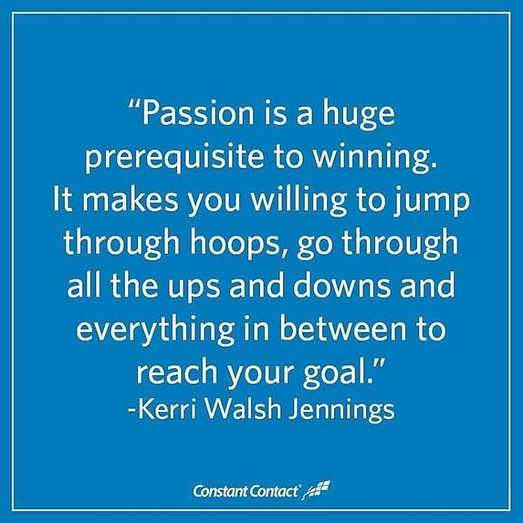@Regrann from @constantcontact -  Start your week with this great quote about passion and dedication from Olympic gold medalist Kerri Walsh Jennings. #MondayMotivation #quotes #smallbiz #smallbusinesslove #smallbusiness #smallbusinessmarketing #smallbizlife #nonprofit #nonprofitmarketing - #regrann